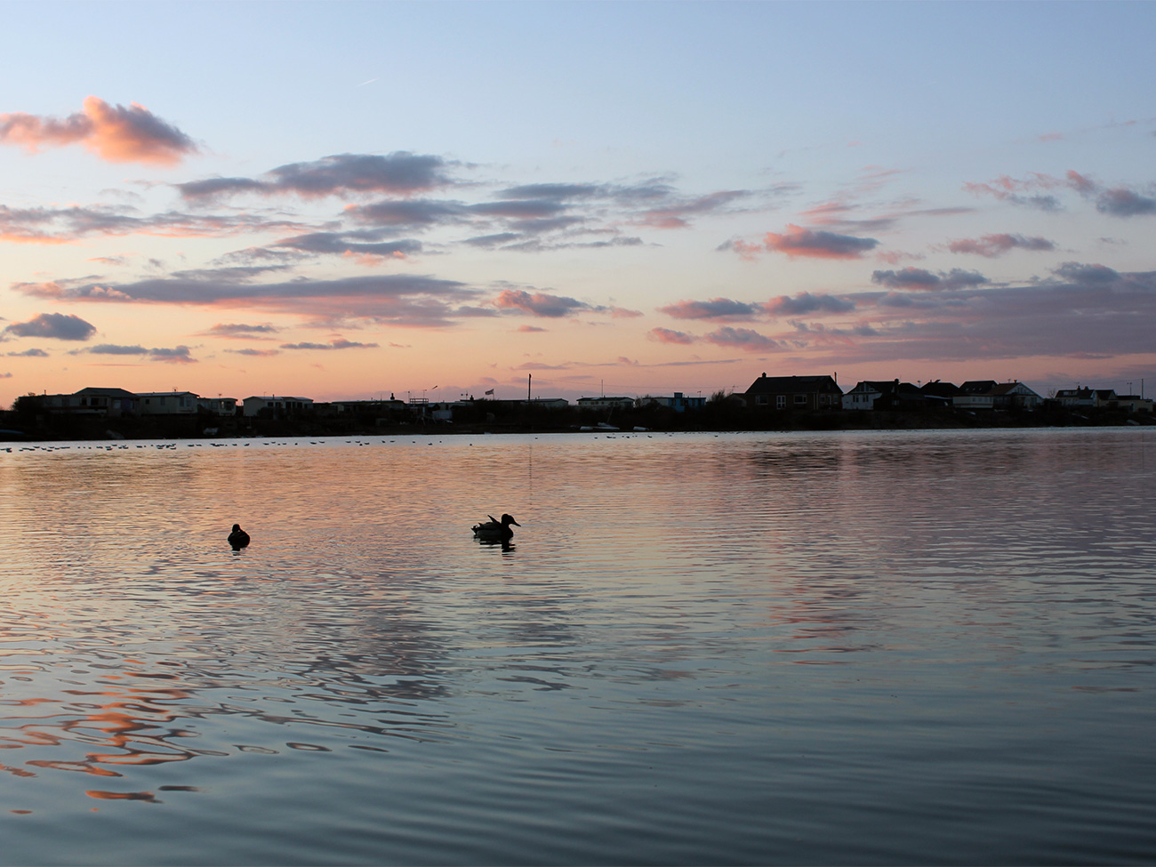 Sunset-over-the-lake-The-Patch-holiday-home-Snettisham